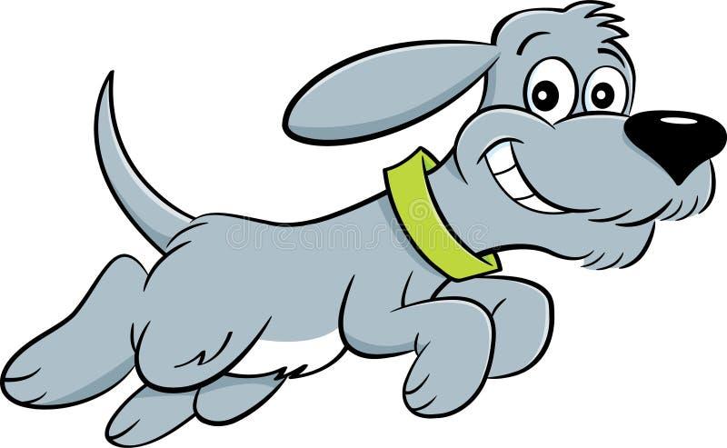 Hoppa för tecknad filmhund vektor illustrationer