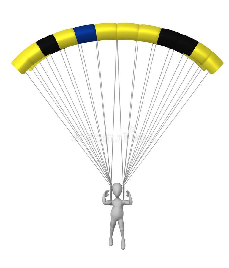 hoppa fallskärm vektor illustrationer