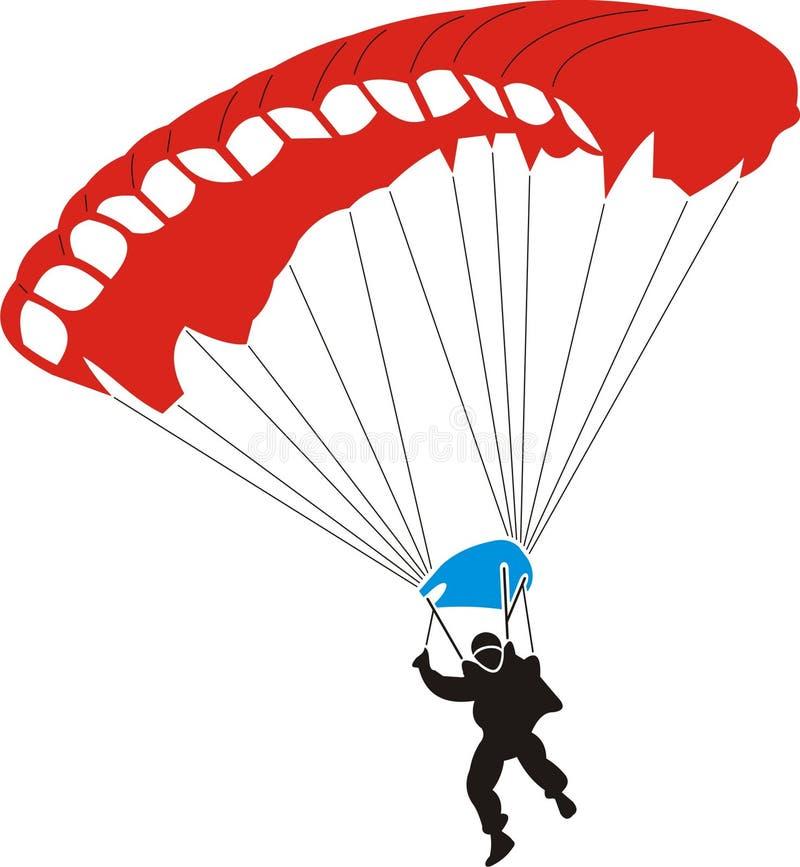 hoppa fallskärm stock illustrationer