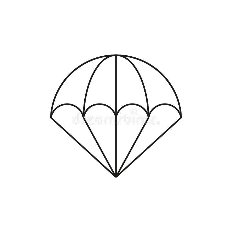 Hoppa fallskärm av symbol stock illustrationer