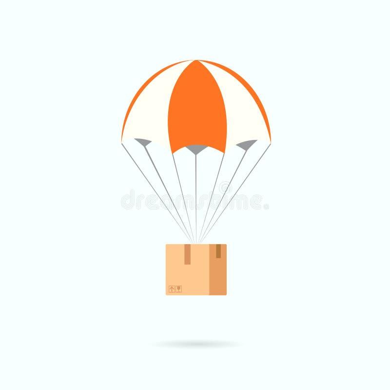 Hoppa fallskärm med asken vektor illustrationer