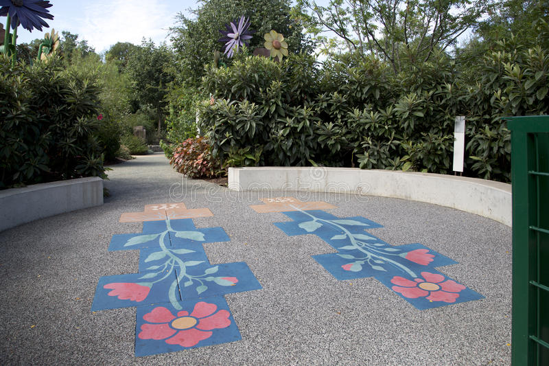 Hoppa hage i Dallas Arboretum arkivbild