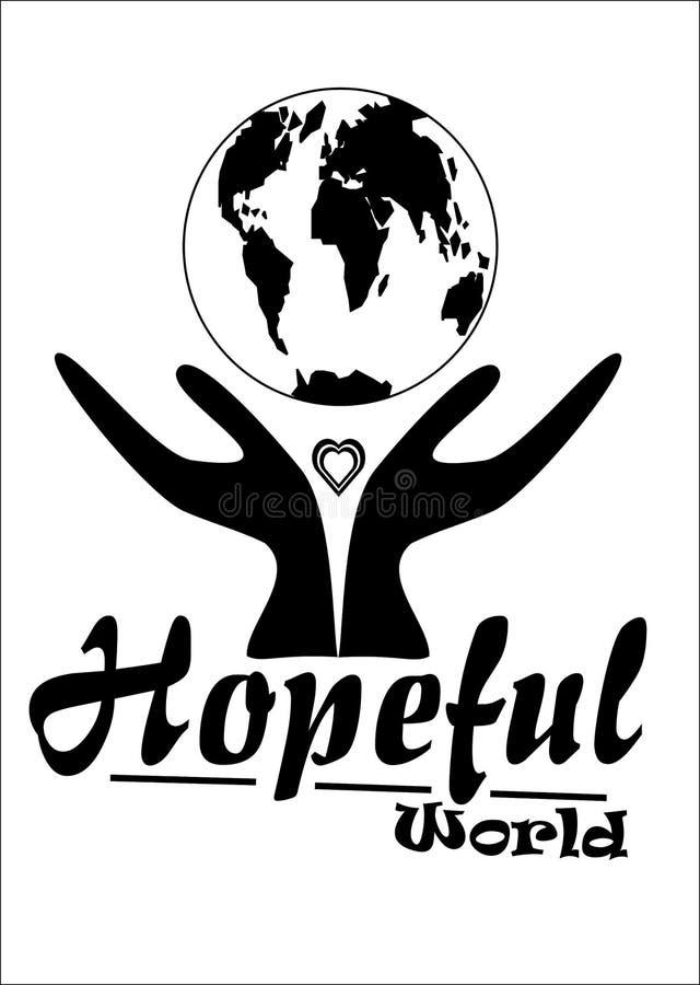 hoppfull värld royaltyfri bild
