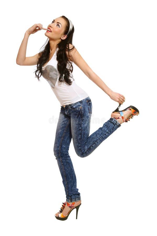 Free Hopping Girl Stock Images - 14046334