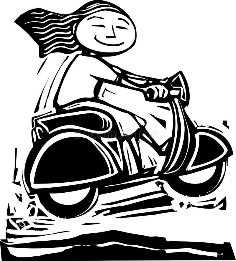 hoppsparkcykel vektor illustrationer