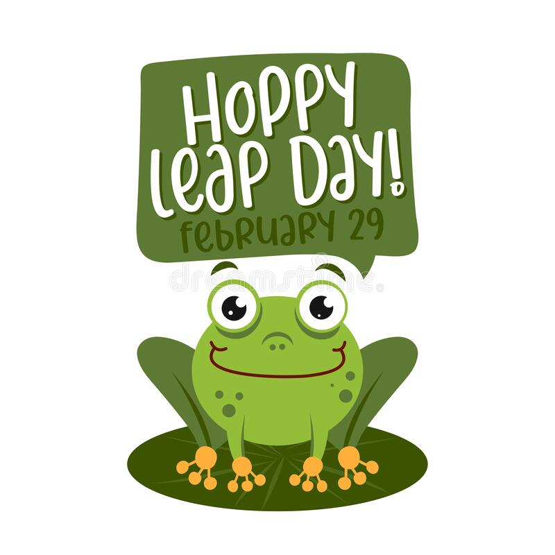 Free Hoppy Leap Day - Leap Year 29 February Calendar Page Stock Image - 171542361