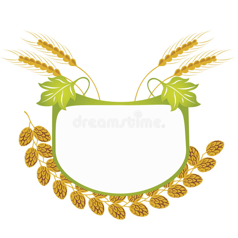 Download Hops and wheat label stock vector. Illustration of illustration - 26688810