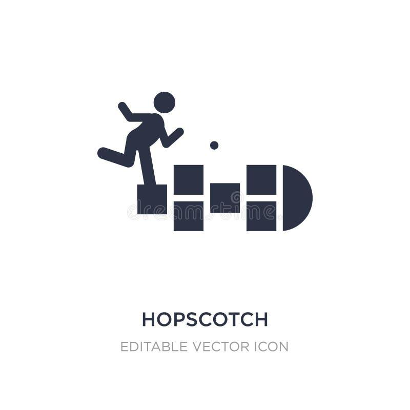 hopscotch εικονίδιο στο άσπρο υπόβαθρο Απλή απεικόνιση στοιχείων από την έννοια ψυχαγωγίας διανυσματική απεικόνιση