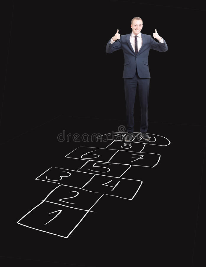 Download Hopscotch stock image. Image of successful, hopscotch - 17664129
