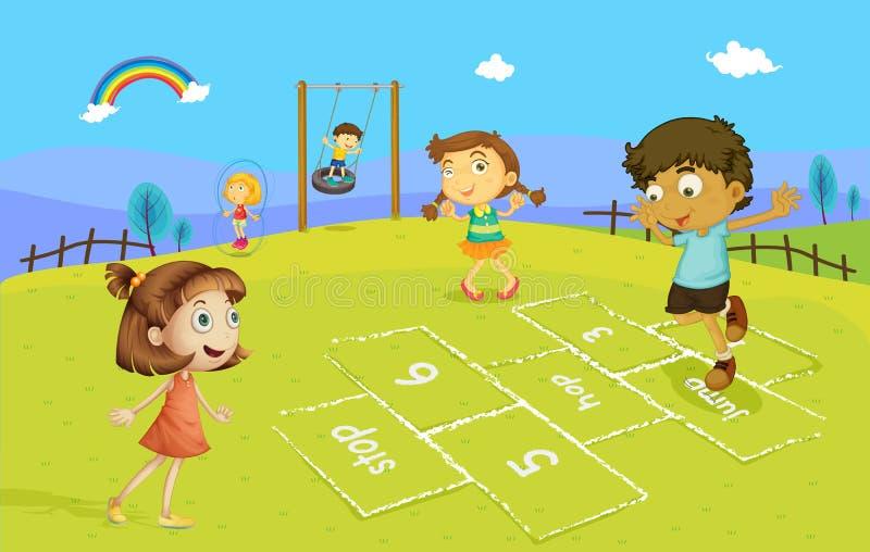 Hopscotch stock de ilustración