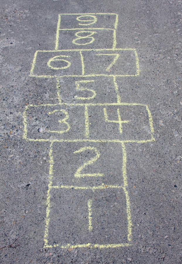 Download Hopscotch stock image. Image of playing, education, yellow - 9135061