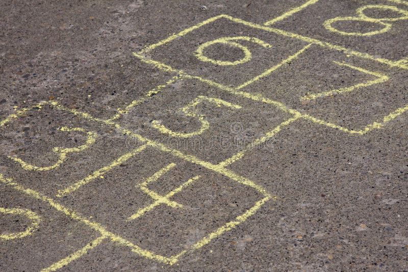 Hopscotch royalty free stock images