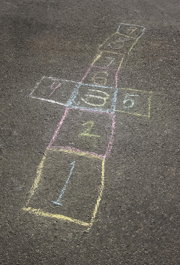 Hopscotch board stock image