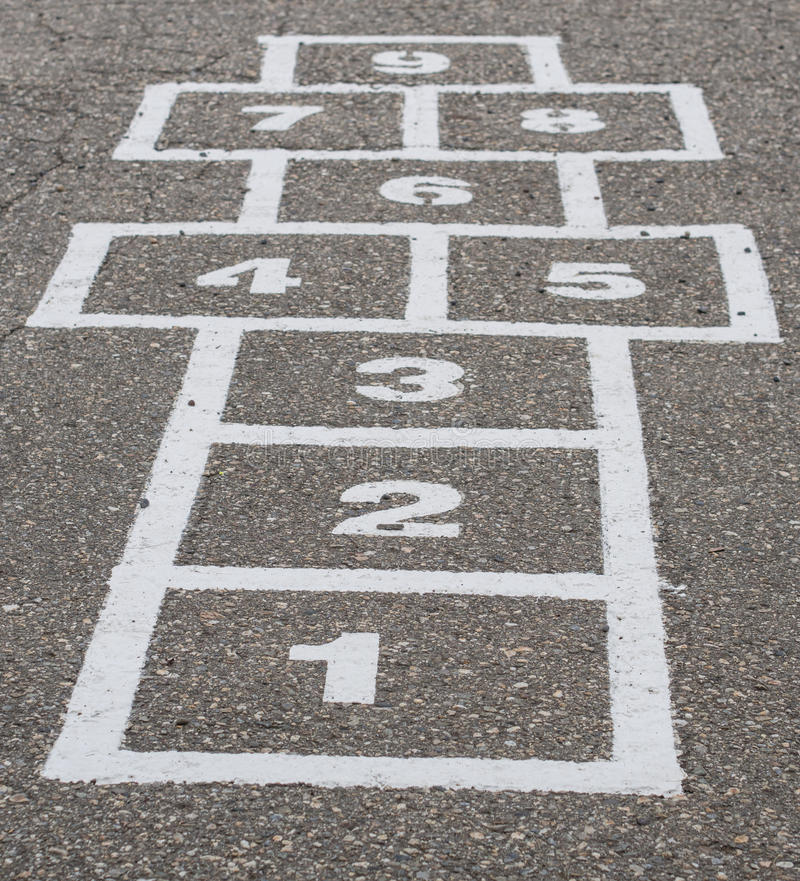 Download Hopscotch stock image. Image of grade, education, school - 33508531