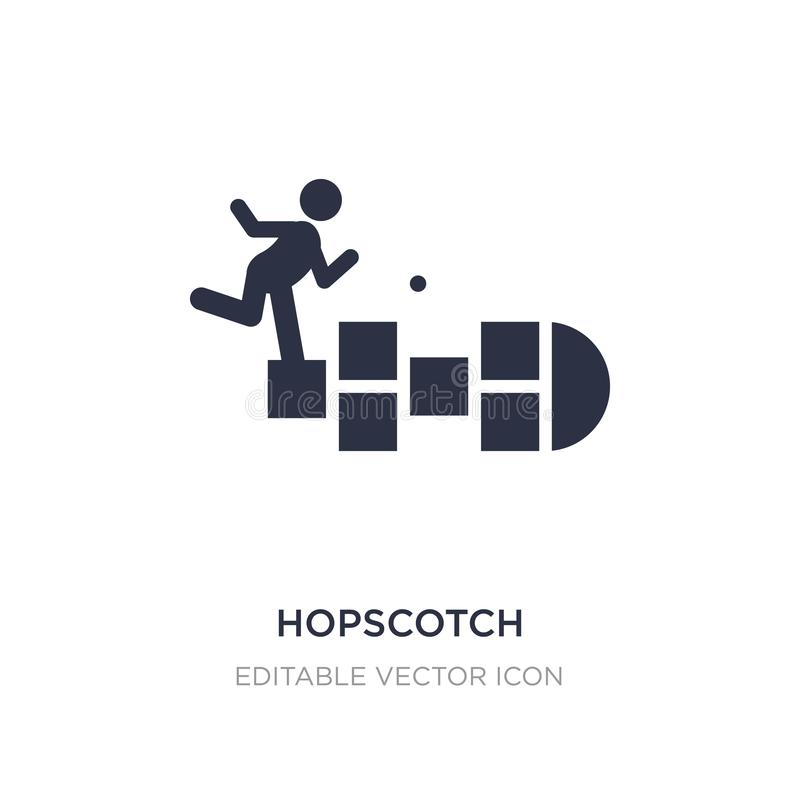 hopscotch icon on white background. Simple element illustration from Entertainment concept vector illustration