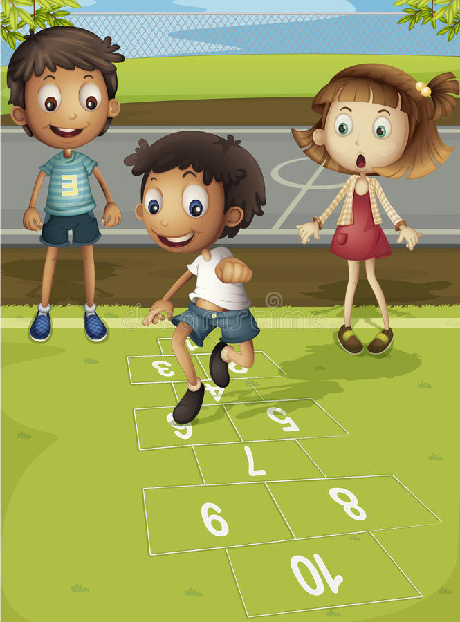 Download Hopscotch Time Royalty Free Stock Images - Image: 24538619