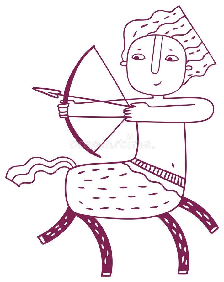 Horóscopo de la diversión - muestra del zodiaco del sagitario fotos de archivo