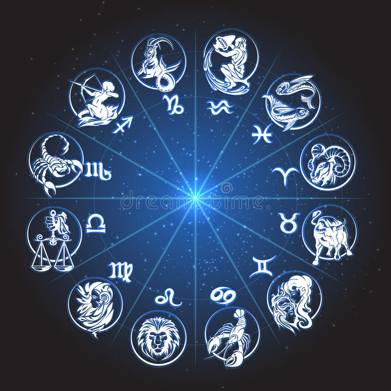Horóscopo del círculo del zodiaco libre illustration