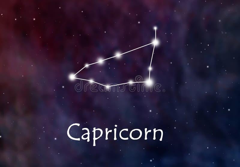Horóscopo del Capricornio o ejemplo del zodiaco o de la constelación stock de ilustración