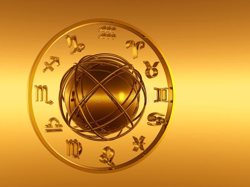 Horóscopo, el zodiaco. stock de ilustración