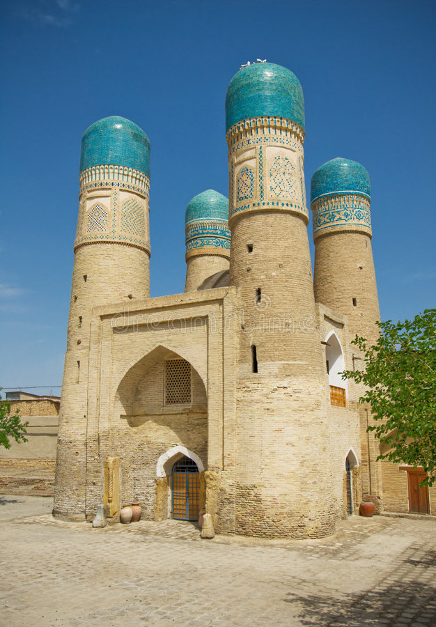 ?hor-Geringes Minarett, Bukhara stockbild