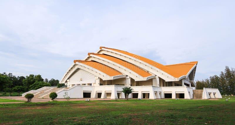 Hor Pra Chum Gand Jah na pi Sang auditorium at Khonkaen Universi. Ty, Thailand royalty free stock photos