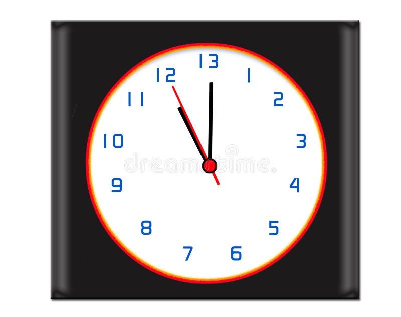 Hora adicional en el reloj de día - negro libre illustration