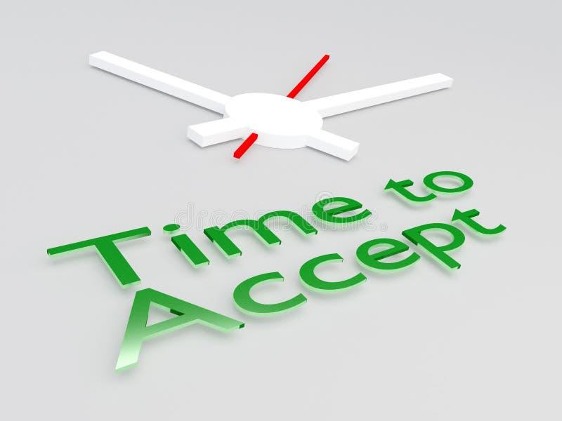 Hora de aceptar concepto ilustración del vector