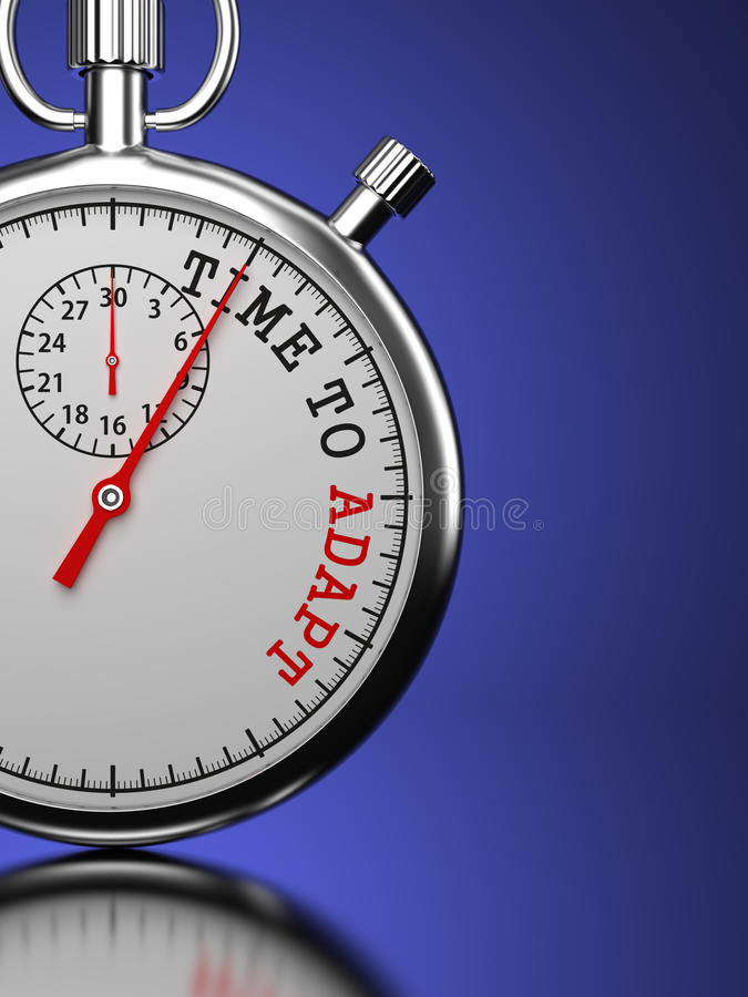 Hora de adaptar concepto. ilustración del vector