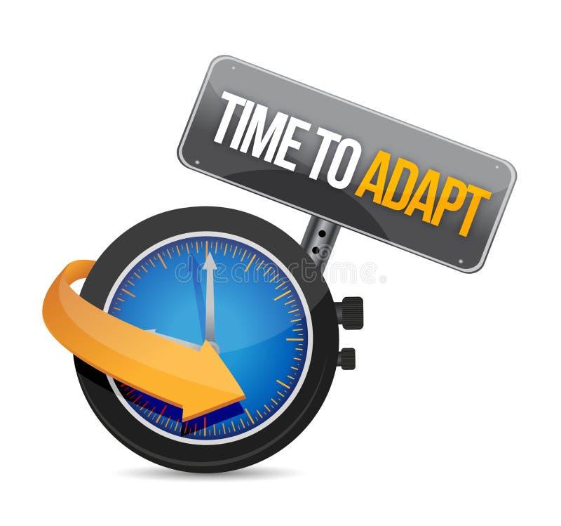 Hora de adaptar el ejemplo del concepto del reloj stock de ilustración