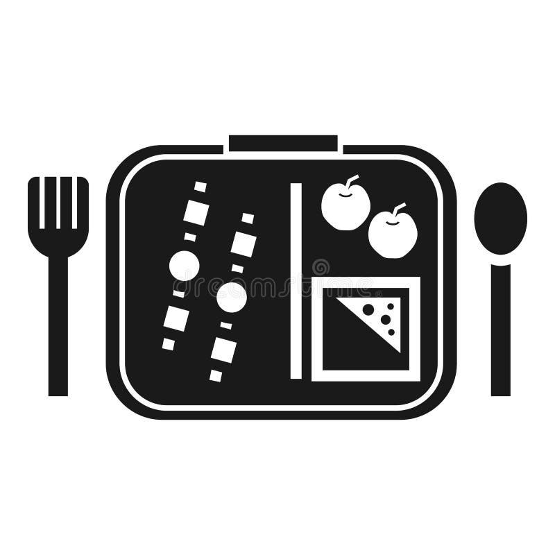 Hora de almoçar ícone, estilo simples ilustração stock