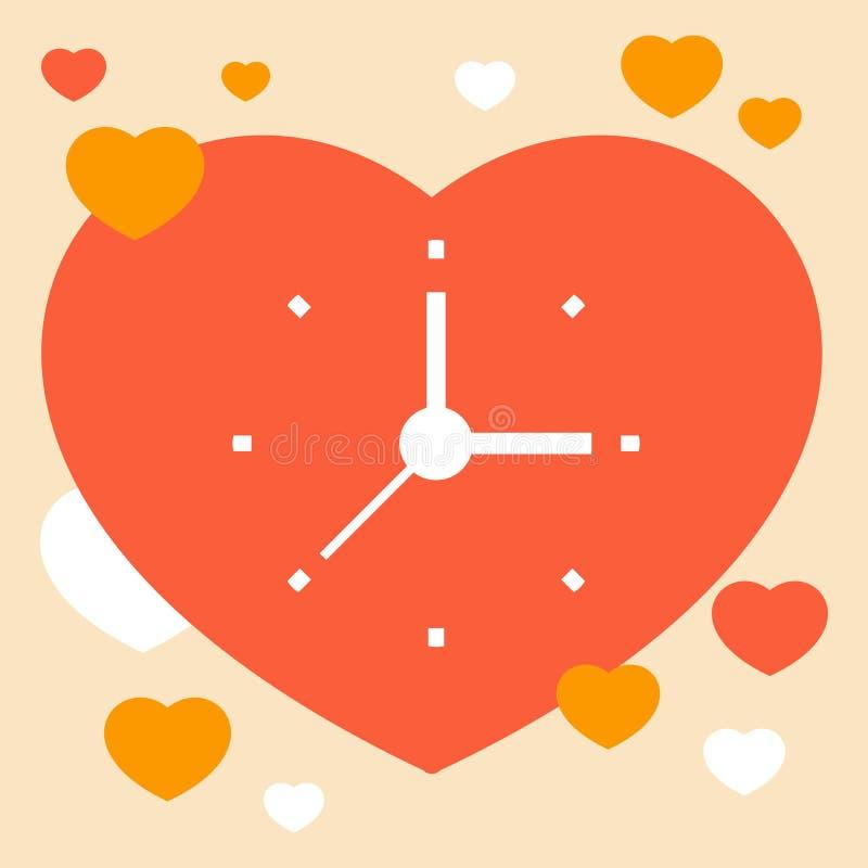 Hora de amar ilustração stock