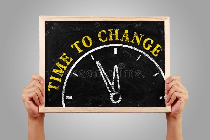 Hora de cambiar imagen de archivo libre de regalías