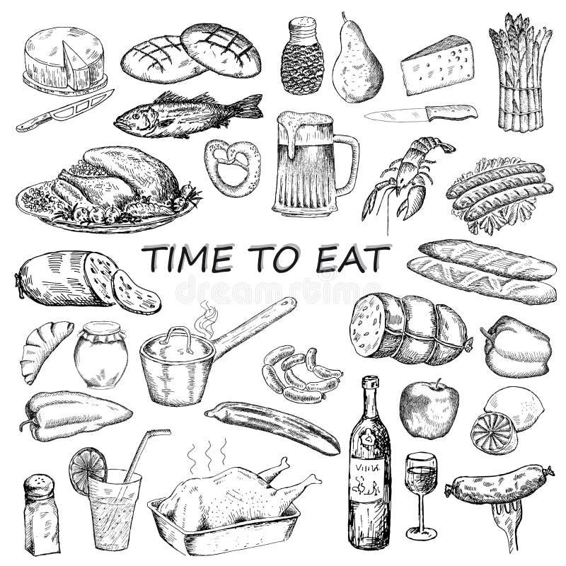 Hora de comer ilustração do vetor