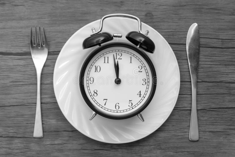 Hora de comer Almoçam o tempo, o café da manhã e o conceito do jantar foto de stock royalty free