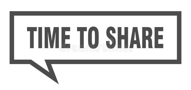 hora de compartir la burbuja del discurso libre illustration