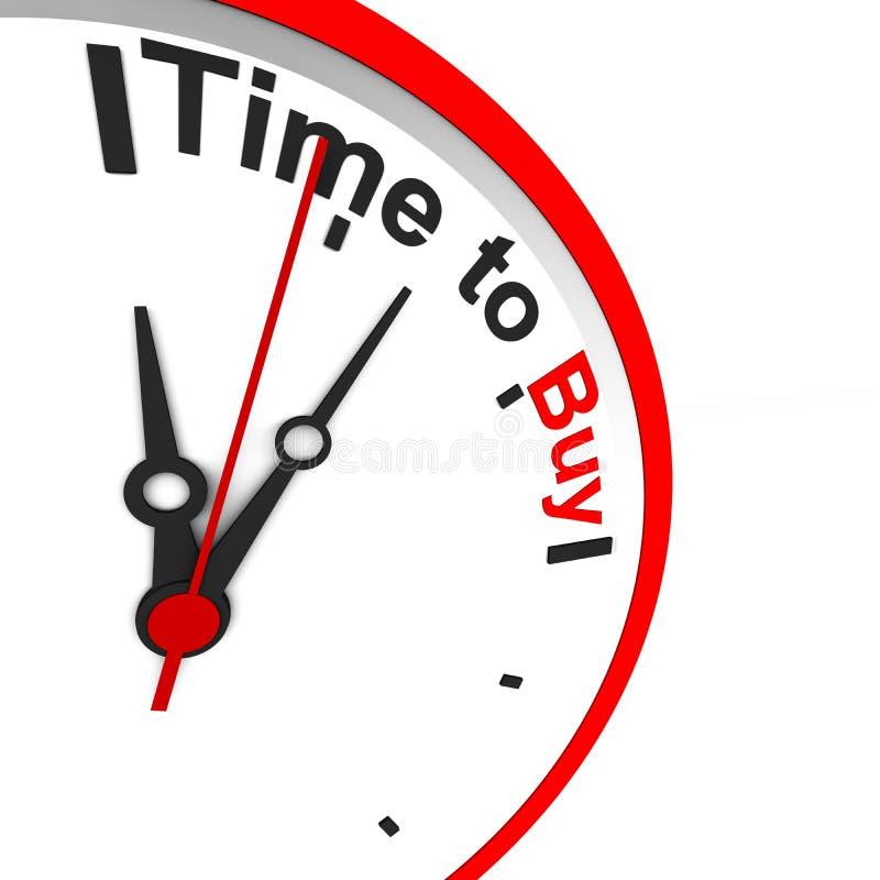 Hora de comprar ilustración del vector