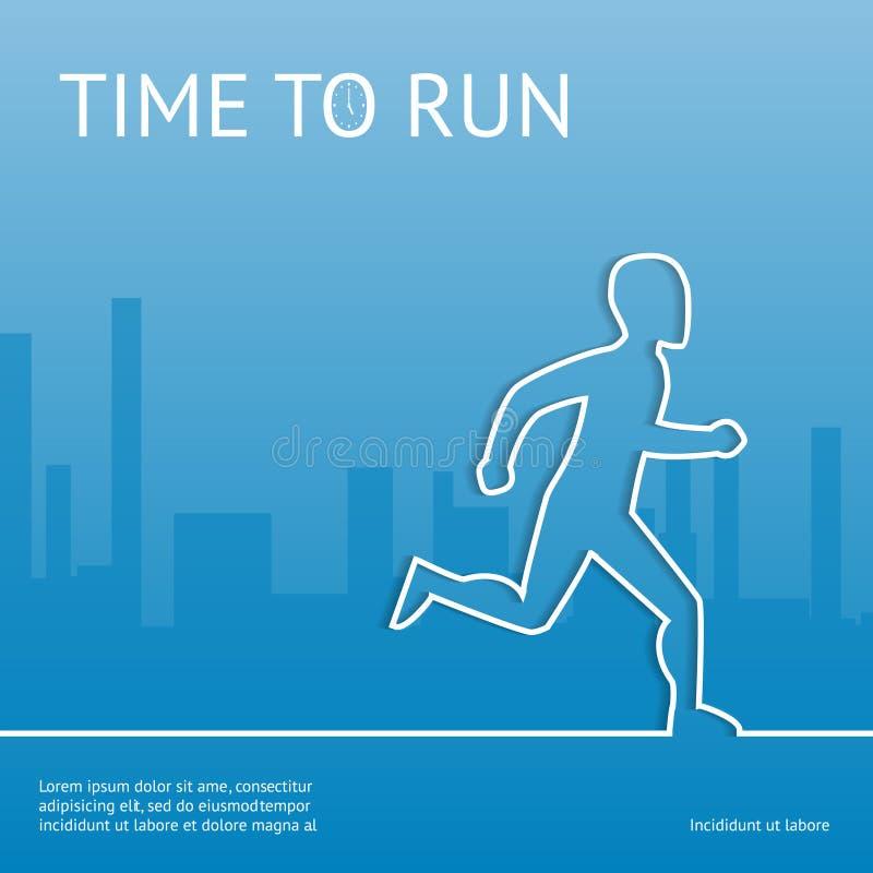 Hora de correr Esporte na cidade ilustração royalty free