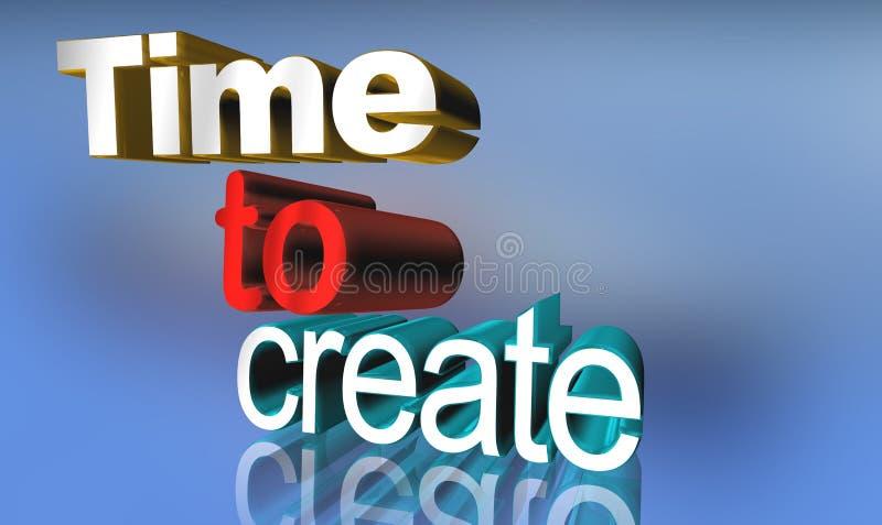 Hora de crear la muestra libre illustration