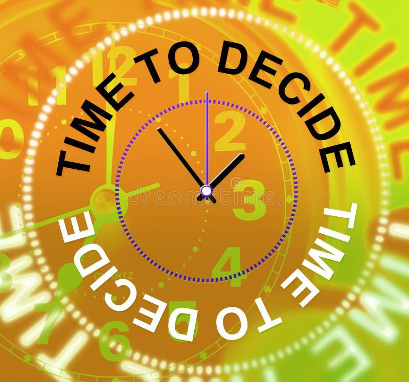 Hora de decidir a opção dos meios indeciso e de escolhê-la ilustração royalty free