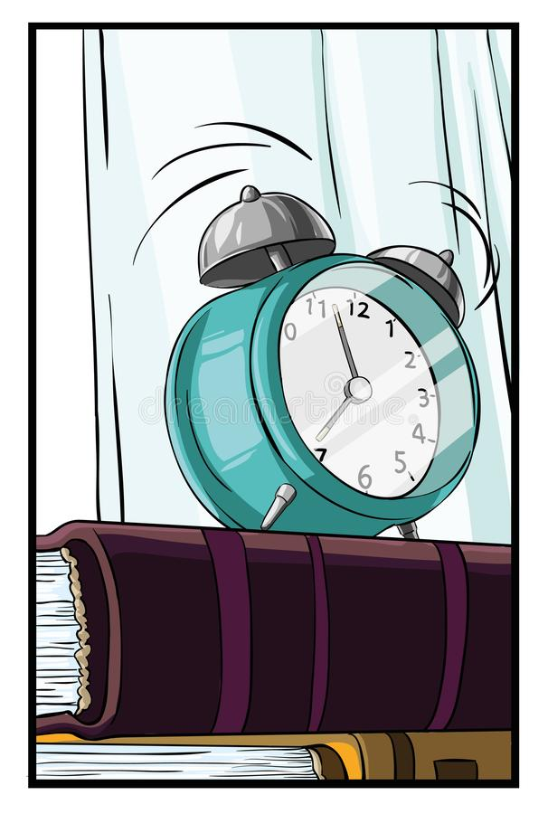 Hora de despertar ilustración del vector