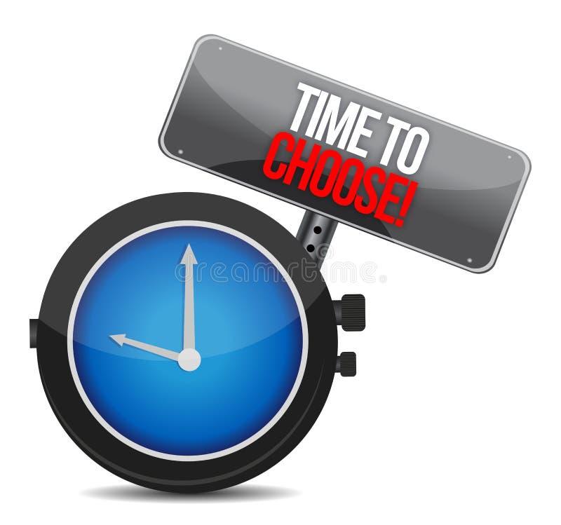Hora de escolher o relógio ilustração royalty free