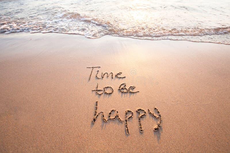Hora de estar feliz, conceito da felicidade imagem de stock