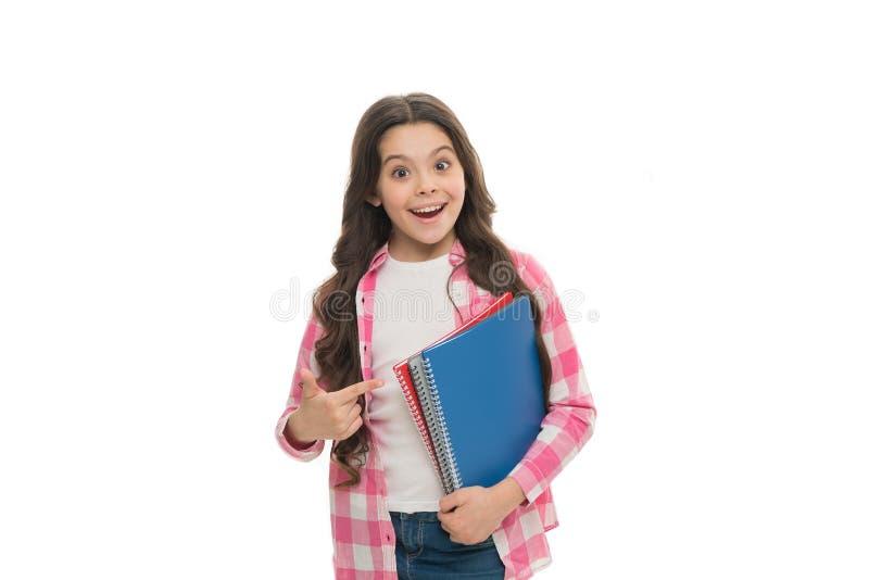 Hora de estudiar Fondo blanco del libro del control de la muchacha Concepto de la librer?a Literatura interesante desarrollo y ed imágenes de archivo libres de regalías