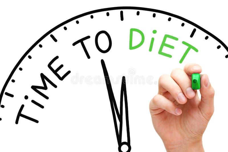 Hora de fazer dieta foto de stock