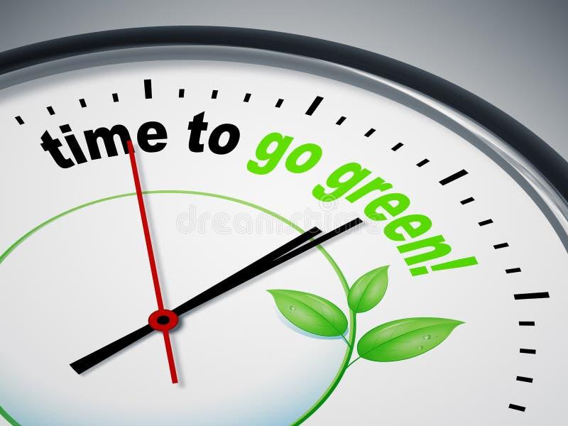 Hora de ir verde ilustração do vetor