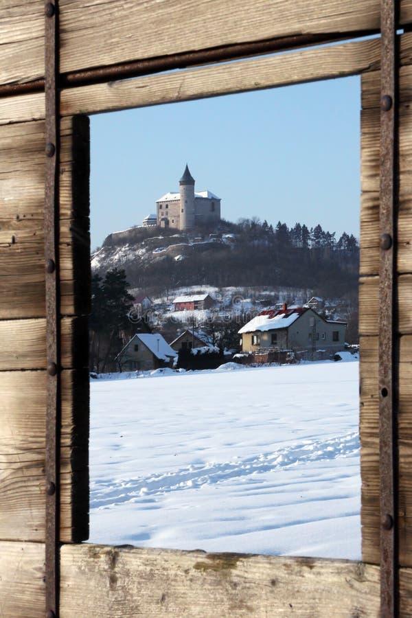 Hora de Kuneticka de bastion en hiver photographie stock