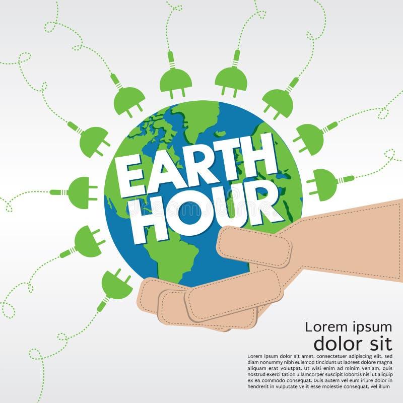 Hora de la tierra. ilustración del vector