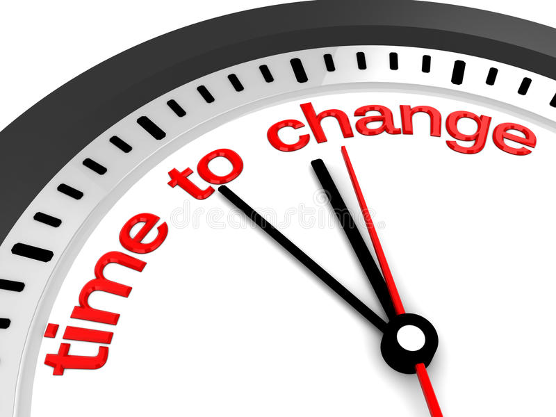 Hora de mudar ilustração stock