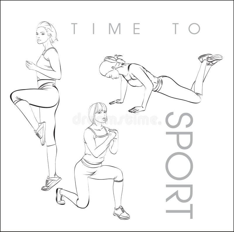 Hora de ostentar ilustração stock
